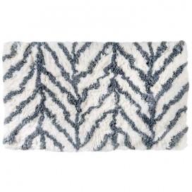 Tappeto da bagno in sofficissimo cotone disponibile in 4 fantasie | bianco e grigio