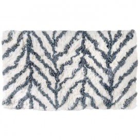Very soft cotton bath mat available in 4 white and grey patterns