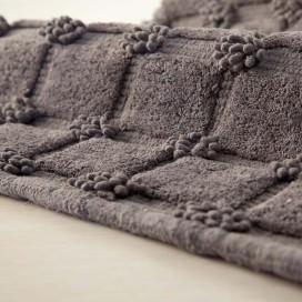 """Tappeto da bagno in cotone 100% con lavorazione a """"Bouclet""""."""