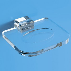 Portasapone | Plexiglass | Trasparente | Cosmea | Petrozzi