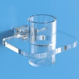 Porta bicchiere per spazzolino in plexiglass | Trasparente | Cosmea