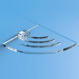 Mensola angolare in plexiglass | Trasparente | Cosmea