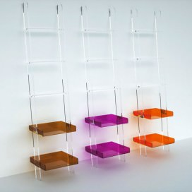 Ladder with bars and trays | Plexiglass | 12 colors available | Easy Collection