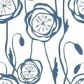 """Ornament Tile Colibrì with floral motif type """"B6"""". Available in 3 different colours."""