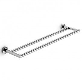 Double wall towel holder | Chromed brass | Baketo collection