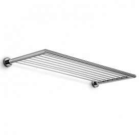 Wall towel holder grid | Chromed brass | Baketo collection