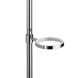 Supporto singolo porta accessori per barra | Ottone cromato | Serie Baketo