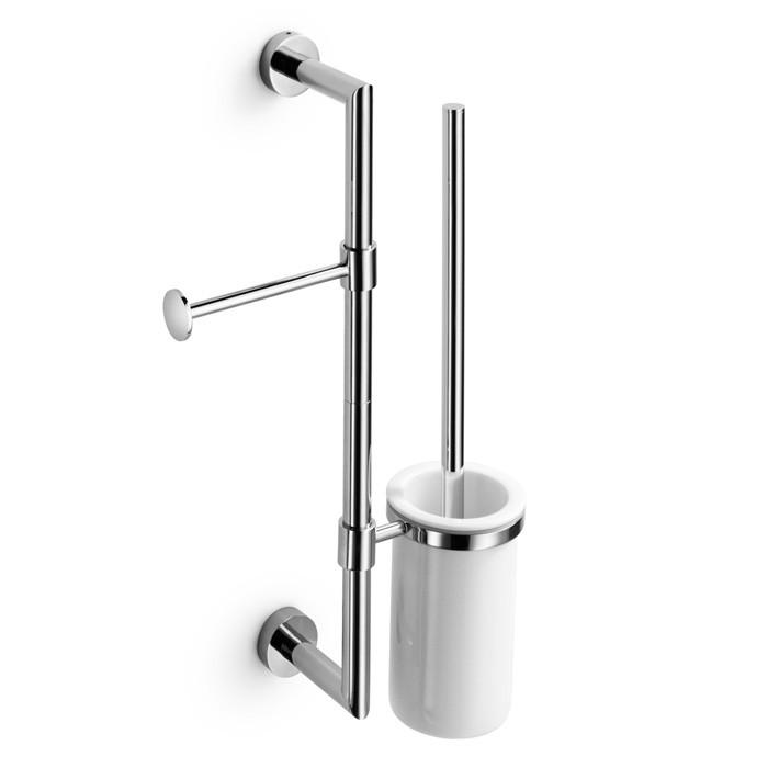 Supporto porta scopino per barra ottone cromato serie - Scopini per bagno ...