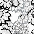 """Ornament Tile Colibrì with floral motif type """"D4"""". Available in 3 different colours."""