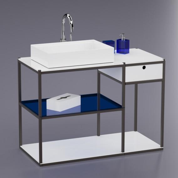 Mobile bagno Street 105 cm | Ferro e PPMA | 12 colori disponibili