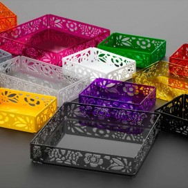 Container tray in plexiglass | 9 colours available