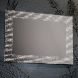 Specchio con decori satinati mosaico | 4 misure disponibili | Progetto 4.0