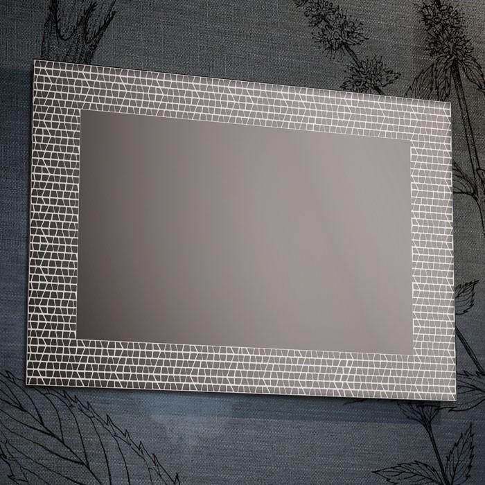 Il Mosaico E Gli Specchi.Specchio Con Decori Satinati Mosaico 4 Misure Disponibili Progetto 4 0