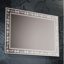 Specchio con decori satinati cornice | 4 misure disponibili | Progetto 4.0