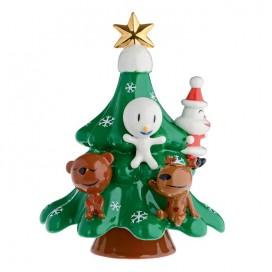 Decorazione natalizia | Xmas Friends | Albero In porcellana decorata a mano di Alessi