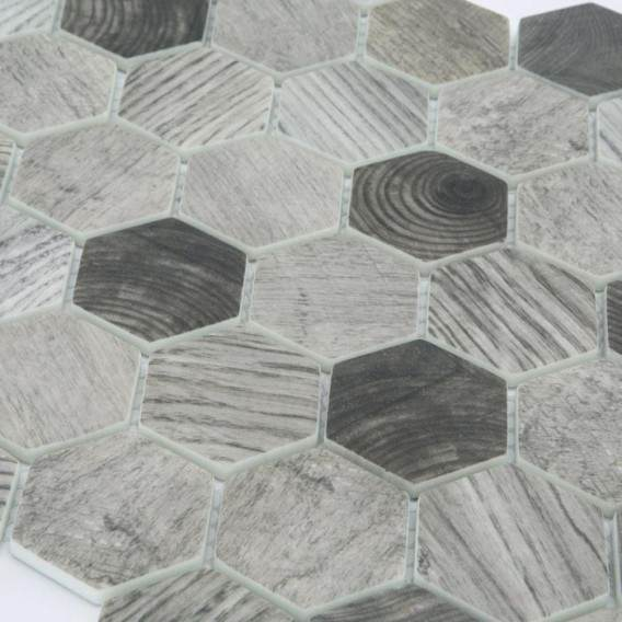 Mosaic | Glass paste | Wood effect | 2 colors available | Sheet size 324x280 mm | Enamel Frame Collection