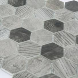 Mosaico | Pasta di vetro | Effetto Legno | 2 colori disponibili | F.to Foglio 324x280 mm | Collezione Enamel Frame