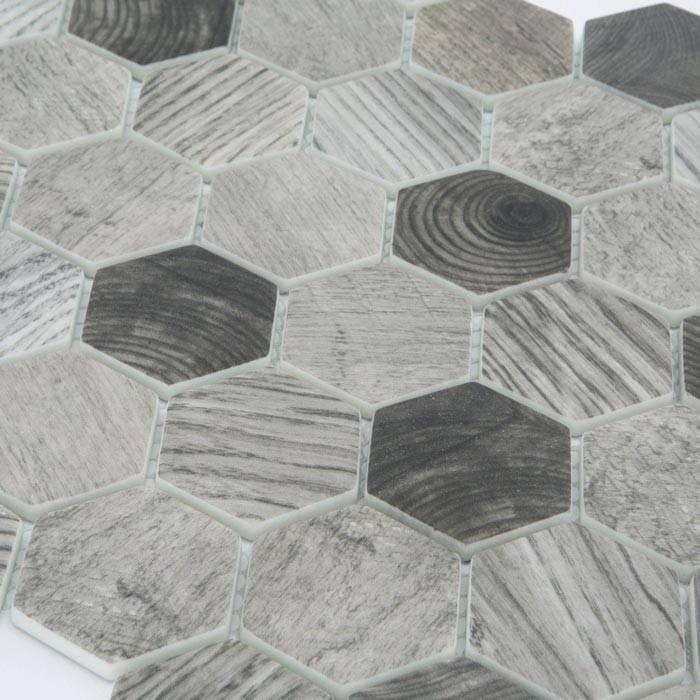 Mosaico in pasta di vetro effetto legno per interni ed esterni for Mosaici pavimenti interni