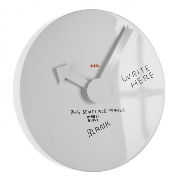 Appendiabiti Da Parete Alessi.Orologio Da Parete Blank Wall Clock Marti Guixe Alessi Idfl