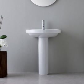 Lavabo monoforo da appoggio in ceramica 62 cm | Con o senza colonna | Bit | Kerasan