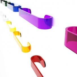 Portasalviette a parete | Plexiglass | Dea | Petrozzi