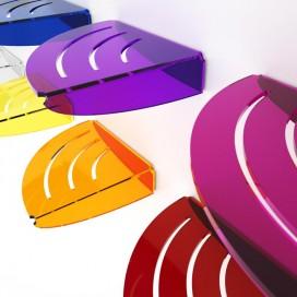 Mensola angolare con asole | Plexiglass | Dea | Petrozzi