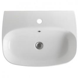 Lavabo da appoggio o sospeso monoforo 60 cm | NoLIta | Kerasan
