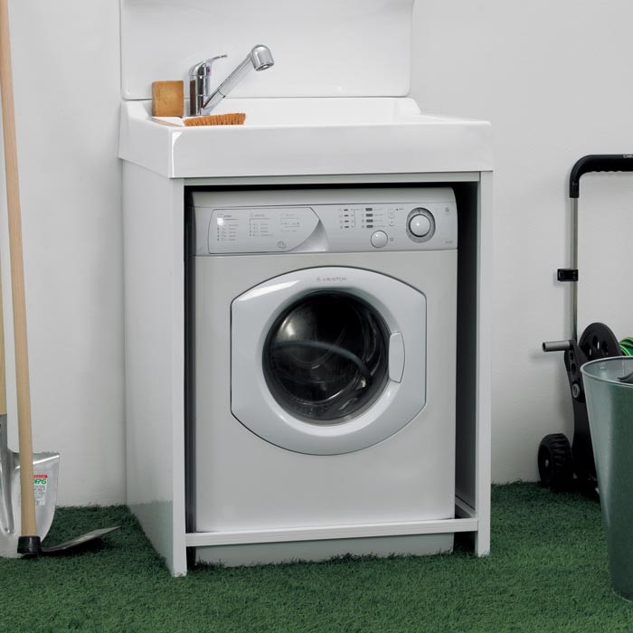 Mobile Lavabo E Lavatrice.Mobile Con Lavatoio Per Lavatrice Bianco Colavene Idfl