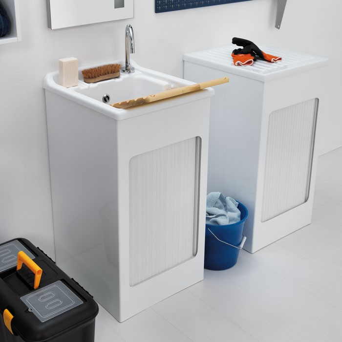 Lavatoio Per Lavanderia Prezzi.Mobile Lavatoio Con Serrandina Per Lavanderia Lavacril Colavene