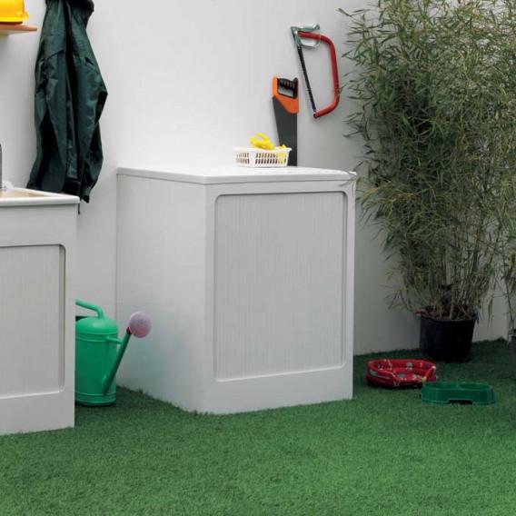 Box contenitore lavatrice con serrandina a scomparsa - Mobile contenitore lavatrice ...