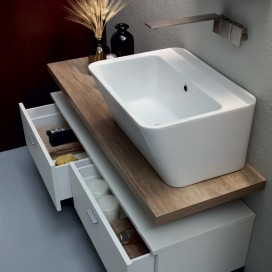 Lavabo in ceramica 70x40xh25 cm| 9 colori disponibili | Serie Wynn | Colavene