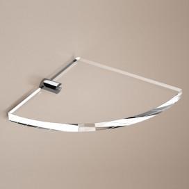 Mensola angolare | Ottone cromato e plexiglass | Lady | Petrozzi