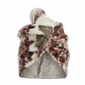 Turbante da donna in spugna con stampa floreale   Puro cotone   Rosa Antico