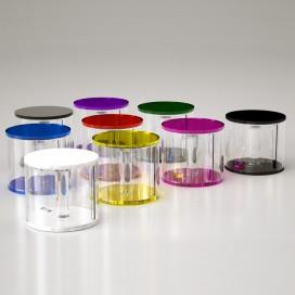 Portarotolo da appoggio tondo | Plexiglass colorato | Petrozzi