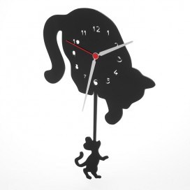 Orologio da parete Gatto & Topo | Plexiglass Colorato | Petrozzi