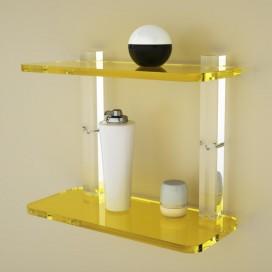 Mensola Stile 2 ripiani | Plexiglass | 14 colori disponibili | Petrozzi