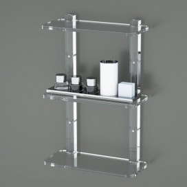 Mensola Stile 3 ripiani | Plexiglass | 14 colori disponibili | Petrozzi
