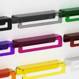 Towel holder   Plexiglass   Transparent   Cosmea Collection