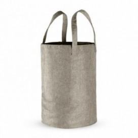 Portabiancheria ripiegabile morbido con manici e rete richiudibile | Disponibile nei colori Sabbia | Grigio