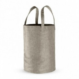 Soft foldable laundry basket with handles and a retractable net | Available in Sand | Grey