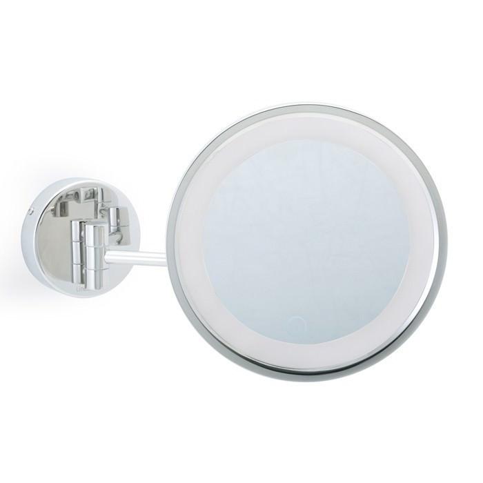 Specchio ingranditore con luce led a parete mobile - Specchio ingranditore con luce ...