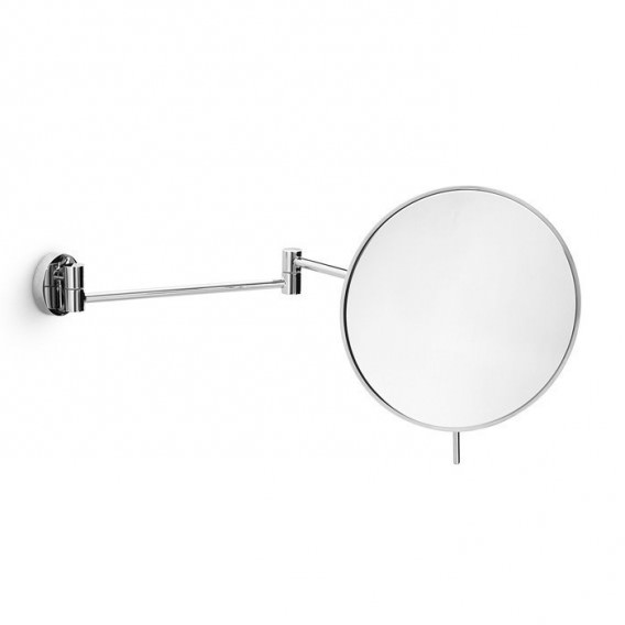 Magnifying Mirror Wall Mounted Movable In Chromed Br