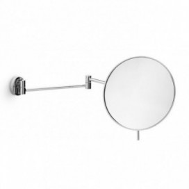 Magnifying mirror wall mounted movable in chromed brass