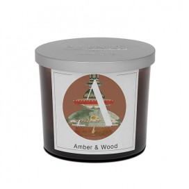 Amber & Wood scented candle | Elementi | Pernici
