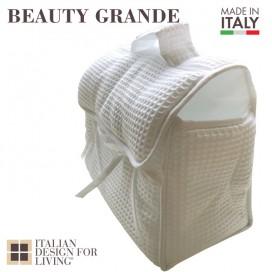 Beauty a nido d'ape in cotone e lino con fodera interna impermeabile | Disponibile nei colori bianco e beige