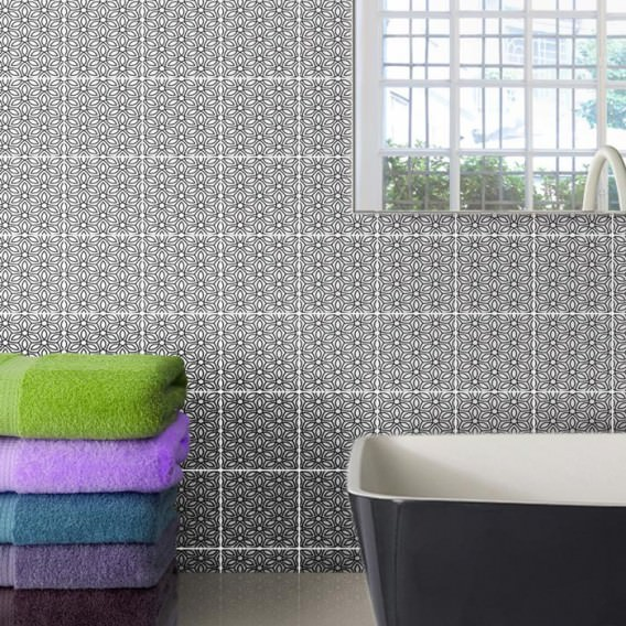 """Ornament Tile Colibrì with abstract motif type """"A2"""". Available in 3 different colours."""