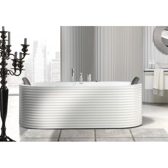 Vasca freestanding in resina ondulata e colorata lucida o opaca - Rivestimento bagno ondulato ...
