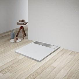 Piatto Doccia in Acrilico con copri-scarico in acciaio inox o bianco