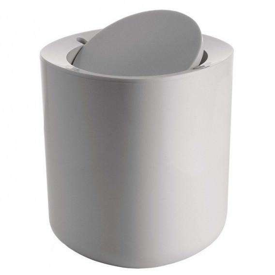 Cestino da bagno bianco grigio scuro pmma serie - Accessori bagno alessi ...