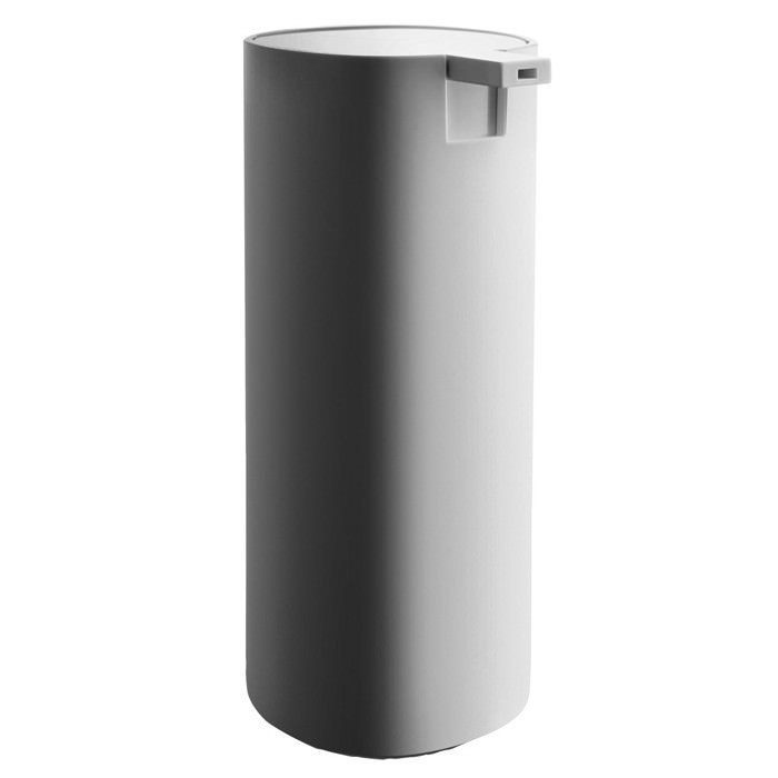 Dosatore per sapone liquido bianco grigio scuro 20 cl birillo - Accessori bagno alessi ...